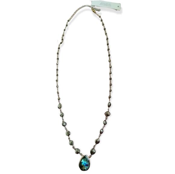 Free People Designer Ella Rae Stone Short Necklace